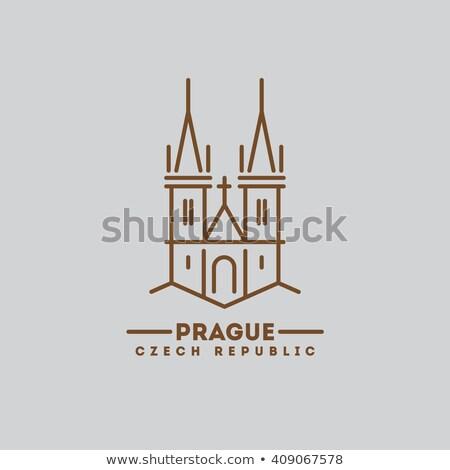 Прага икона штампа праздник Сток-фото © Myvector