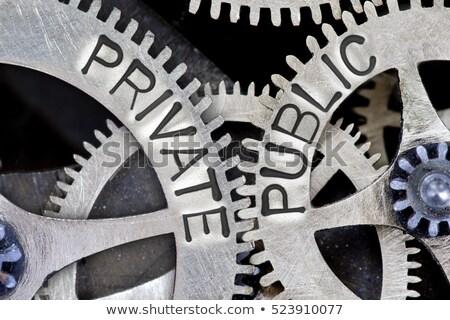 public or private concept of choice stock photo © tashatuvango