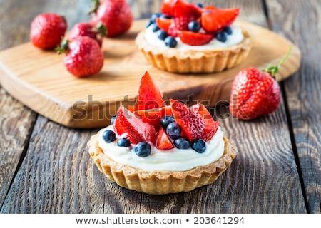 草莓 乳蛋糕 透明 玻璃 菜 商業照片 © aladin66