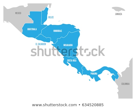 Gray Central America map Stock photo © Volina