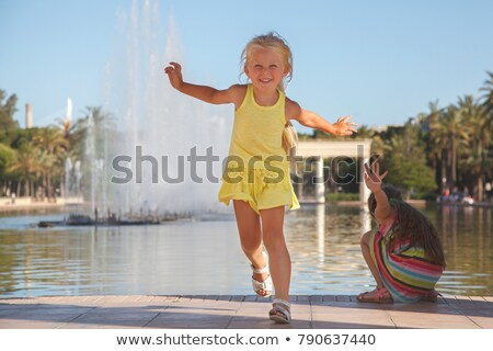 Girl on Fountain Stock photo © Fisher