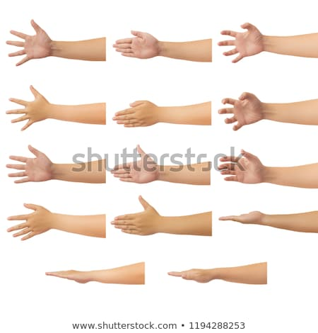 Hand gesture number five closeup isolated on white Stock photo © bloodua