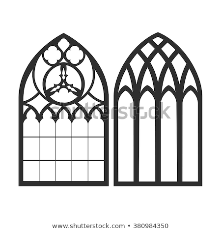 Windows of a Gothic church Stock photo © w20er