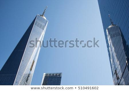 brooklyn bridge with world trade center in New York Stock photo © meinzahn