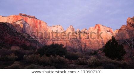 Napfelkelte magas hegy park sivatag délnyugat Stock fotó © cboswell
