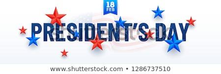 Presidente dia Estados Unidos américa colorido Foto stock © bharat
