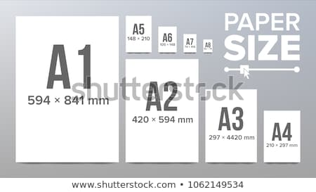 A series paper sizes Stock photo © Elenarts