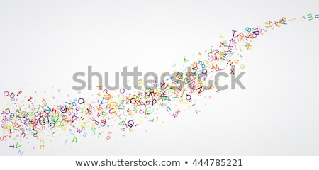 Abstract letters background Stock photo © burakowski