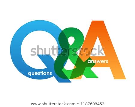 Responder pergunta botão vetor negócio teia Foto stock © burakowski