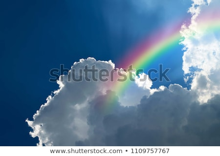Color Rainbow With Clouds And Blue Sky stock photo © cammep