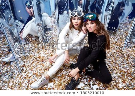 極端な カジュアル 化粧 ファッション モデル 顔 ストックフォト © Geribody