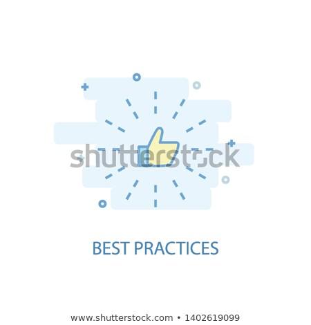 best practice, flat design Stock photo © marinini