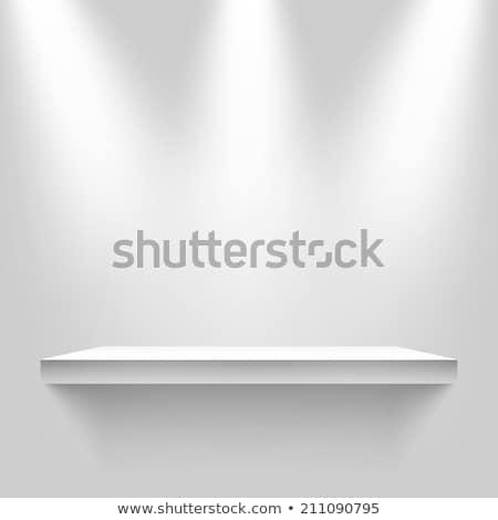 Bianco shelf luce fonte isolato Foto d'archivio © cherezoff
