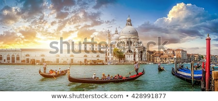 Gondola tour at sunset in Venice Stock photo © Hofmeester