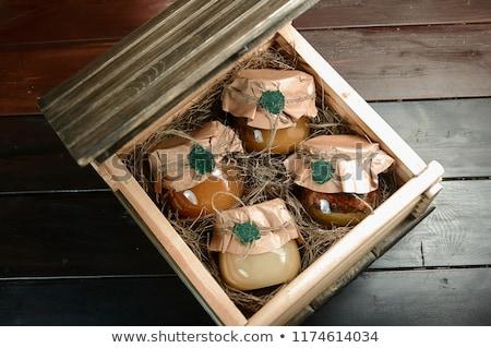 Box and Honey Jar Stock photo © vanessavr