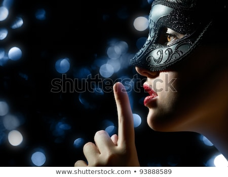 красивой · женщину · карнавальных · маске - Сток-фото © nejron
