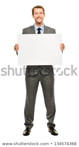 üzletemberek plakát eps akta alkotóelem külön Stock fotó © Voysla