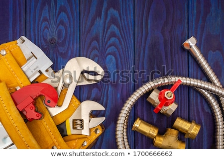 Plumbing strumenti materiali home tavola studio Foto d'archivio © monkey_business