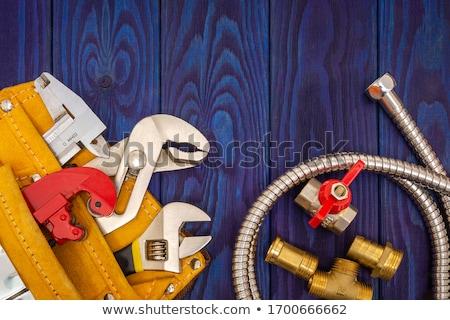 encanamento · ferramentas · materiais · casa · tabela · estúdio - foto stock © monkey_business