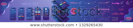 Groene helling iconen web toepassingen mobiele Stockfoto © liliwhite