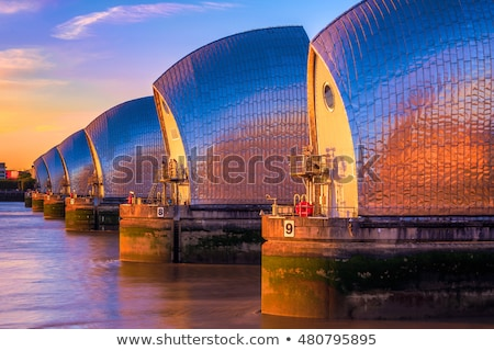 London River Thames barrier Stock photo © unikpix