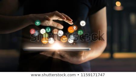 экономика цифровой цвета текста темно Сток-фото © tashatuvango