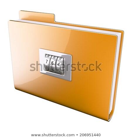 Yellow folder closed on cipher Stock photo © pikaczy