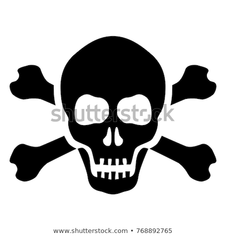 Scull  and crossbones background Stock photo © lemonti