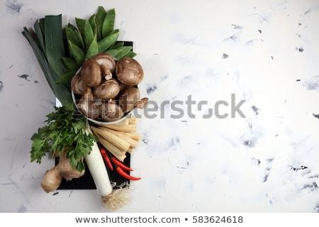 corn and edible mushrooms recipe stock photo © stevanovicigor