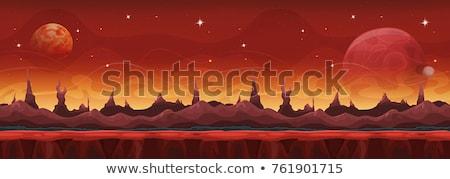 planet landscape in space stock photo © designsstock