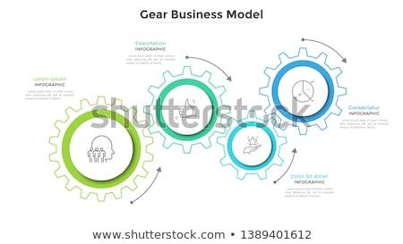 カラフル · 歯車 · 3次元の図 · 3D · 白 · 建設 - ストックフォト © make