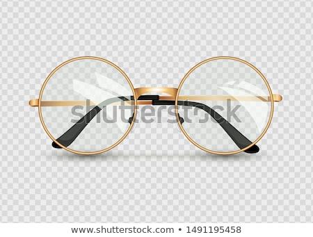 Bril bril vector frame lens neus Stockfoto © Slobelix