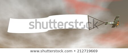 vliegen · vliegtuigen · banner · hemel · wolken · ruimte - stockfoto © elenarts