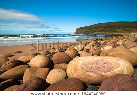big stones on scottish coast landscape stock photo © michaklootwijk