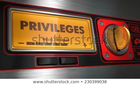 Privileges on Display of Vending Machine. Stock photo © tashatuvango