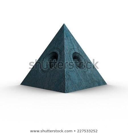 3d pyramid grunge old speaker sound system  Stock photo © Melvin07