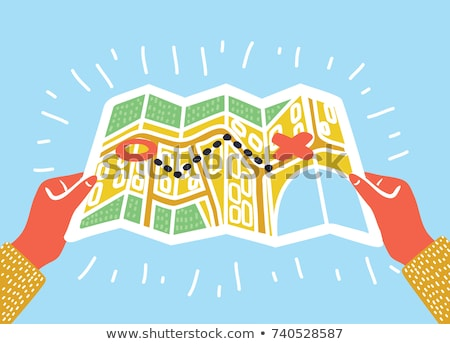 Stockfoto: Human Road Map