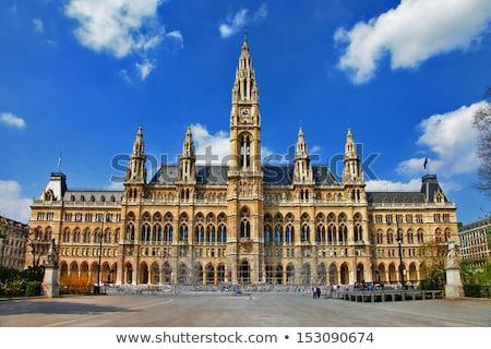város · előcsarnok · Bécs · Ausztria · épület · utazás - stock fotó © andreykr