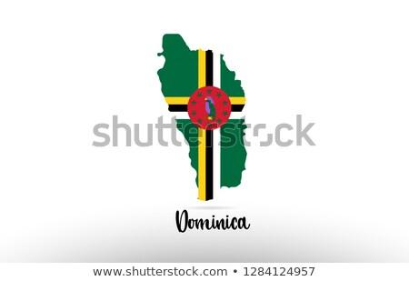 карта Доминика различный белый земле Сток-фото © mayboro1964