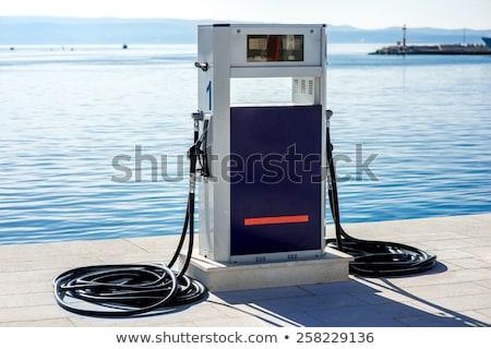 gas station in sea port Stock photo © ultrapro