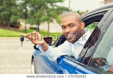 счастливым красивый парень ключами Новый автомобиль портрет Сток-фото © HASLOO