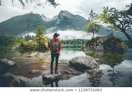 hiking into a green wilderness stock photo © wildnerdpix