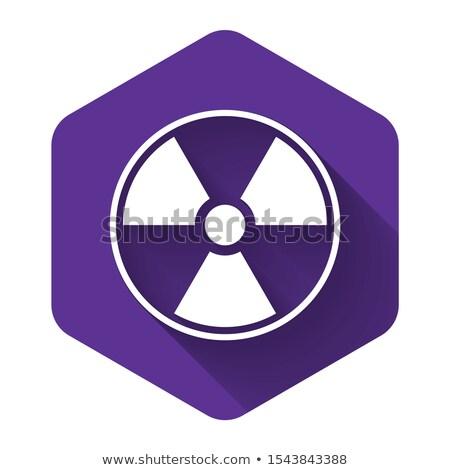 Radioativo assinar roxo vetor ícone botão Foto stock © rizwanali3d