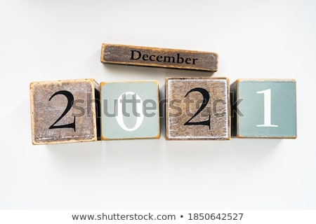 december in 3d cubes stock photo © marinini