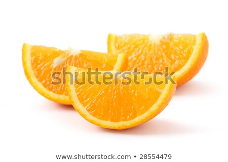 relevant · tranches · orange · blanche · isolé · alimentaire - photo stock © rob_stark