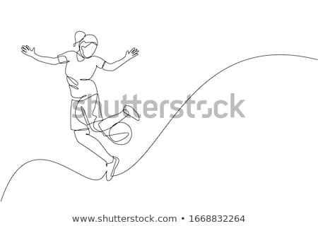 fútbol · imagen · hombre · fútbol · arte · campo - foto stock © darkves