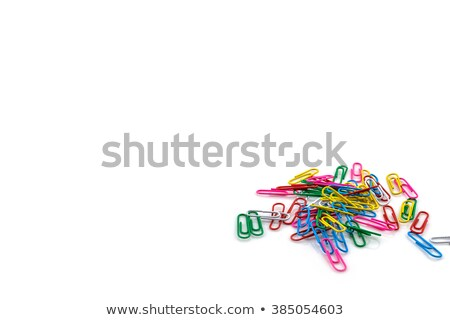 colored paperclips isolated on white background stock photo © boroda