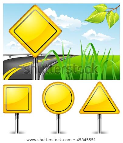 poverty on warning road sign stock photo © tashatuvango