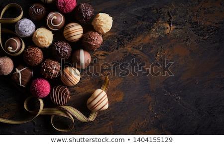 украшенный роскошь шоколадом белый текстуры Сток-фото © peter_zijlstra