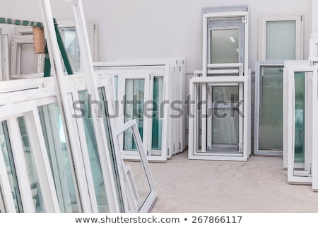 Stock photo: PVC window or door profile